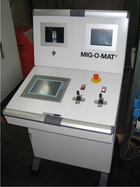 Controlling of compete mechanical- and welding system by central controlling system